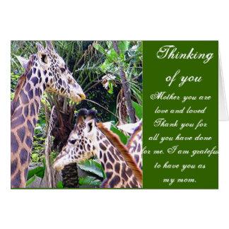 Giraffes_Mother Child Card