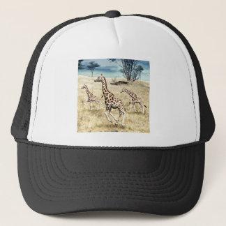 Giraffes on the Savanna Plain Trucker Hat