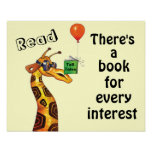 Giraffes Read Tall Tales Literacy Poster