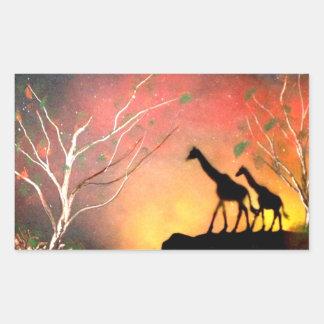 Giraffes Rectangular Sticker