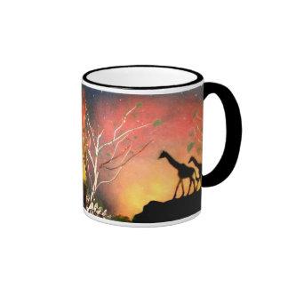 Giraffes Ringer Mug