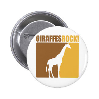 Giraffes Rock! #2 Button