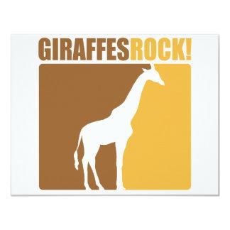 Giraffes Rock! #2 4.25x5.5 Paper Invitation Card