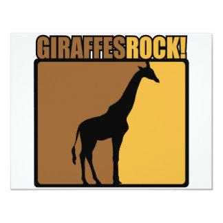 Giraffes Rock! Card