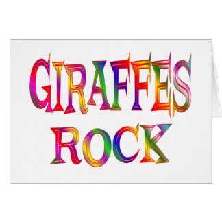 Giraffes Rock Card