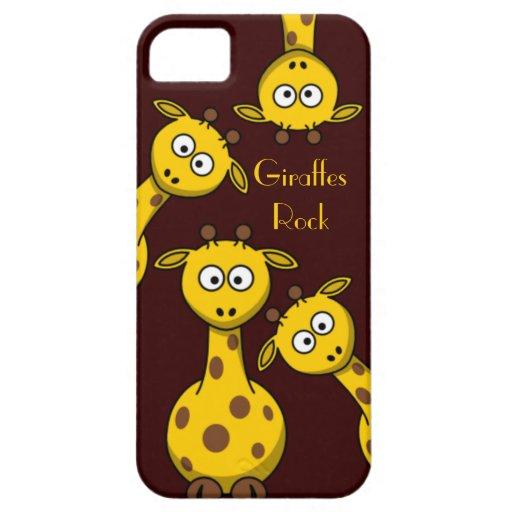 Giraffes Rock - Customize Text  Option iPhone 5 Case