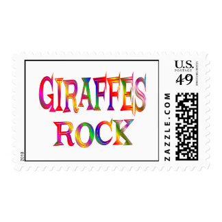 Giraffes Rock Postage Stamp