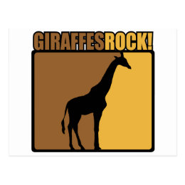 Giraffes Rock! Postcard