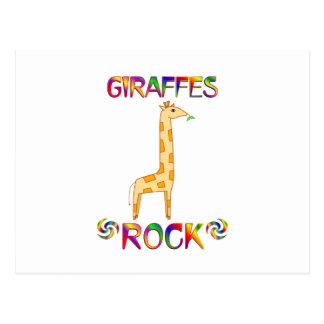 GIRAFFES ROCK POSTCARD