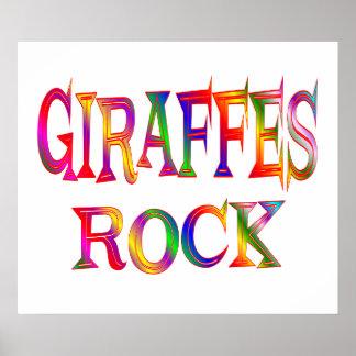Giraffes Rock Poster