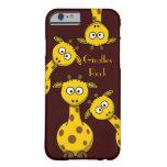 Giraffes Rock - Text Option iPhone 6 Case