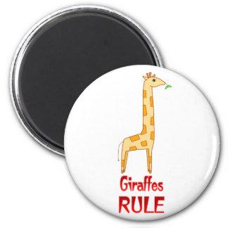 Giraffes Rule 2 Inch Round Magnet
