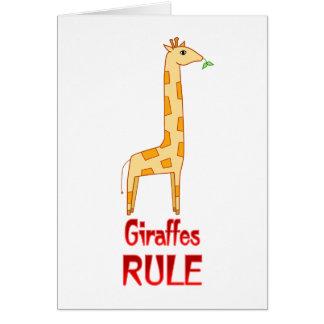 Giraffes Rule Card