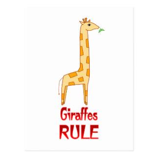 Giraffes Rule Postcard