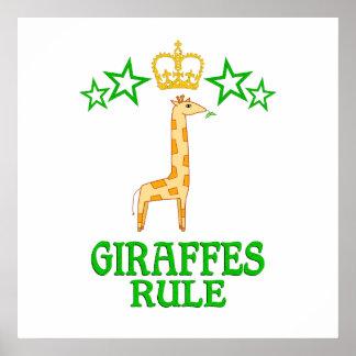 Giraffes Rule Poster
