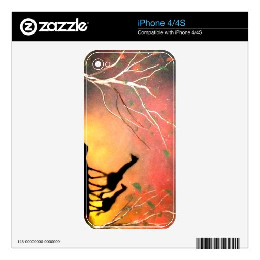Giraffes Decals For The iPhone 4S