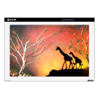 """Giraffes 17"""" Laptop Decals"""