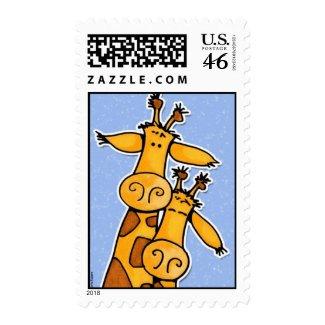 giraffes stamp stamp