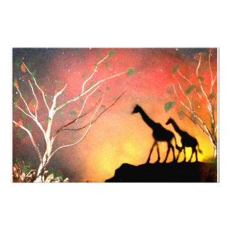 Giraffes Customized Stationery
