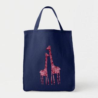 giraffes tote bag