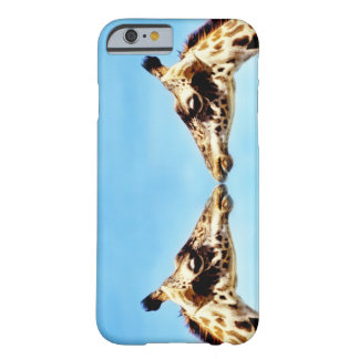 Giraffes touching noses barely there iPhone 6 case