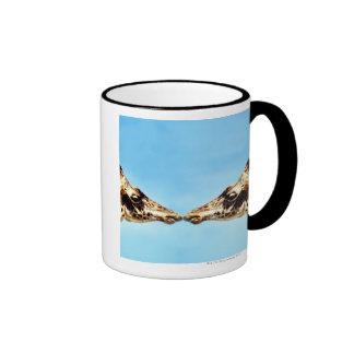 Giraffes touching noses ringer coffee mug