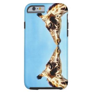 Giraffes touching noses tough iPhone 6 case