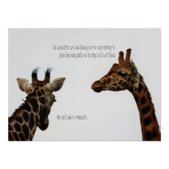 giraffes vs scientists poster