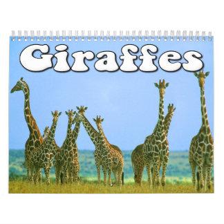 Giraffes Wall Calendar