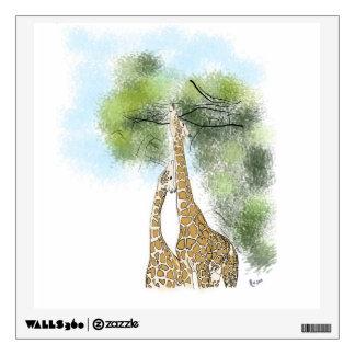 giraffe wall decals wall stickers zazzle