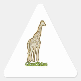 Giraffidae Triangle Sticker