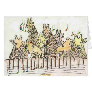 girafs singing greeting cards