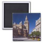 Giralda bell tower and cathedral, Madrid, Spain Magnet