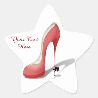 Girant Red Stiletto - Heel Dancer Star Sticker