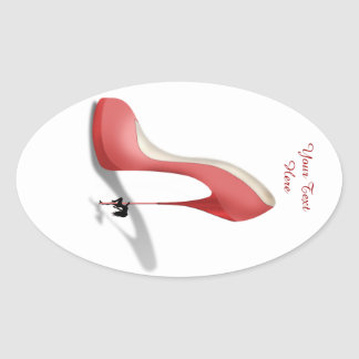 Girant Red Stiletto - Heel Dancer Stickers