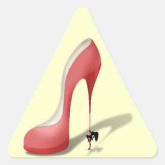 Girant Red Stiletto - Heel Dancer Triangle Sticker