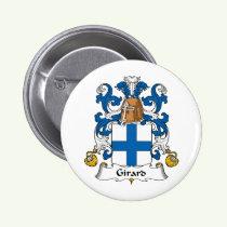 Girard Family Crest Button