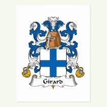 Girard Family Crest Postcard