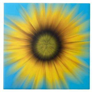 Girasol abstracto que pinta la baldosa cerámica azulejos ceramicos