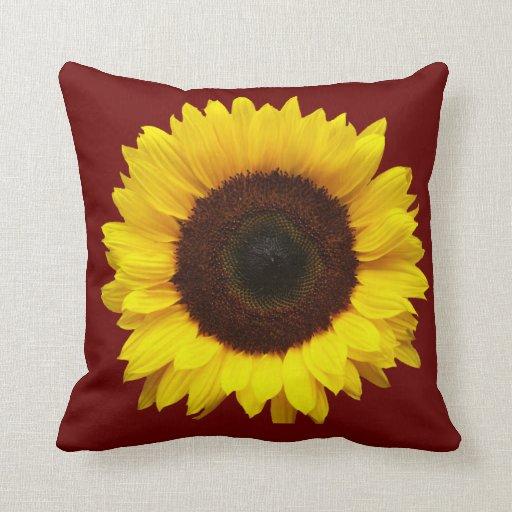 Girasol amarillo almohada