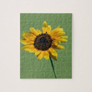 Girasol amarillo artsy puzzle