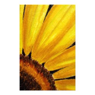 Girasol amarillo brillante - impresión en colores papelería personalizada