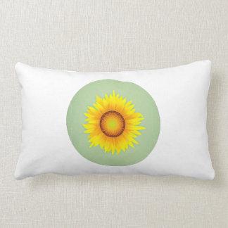 Girasol amarillo brillante retro/verde menta del v almohadas
