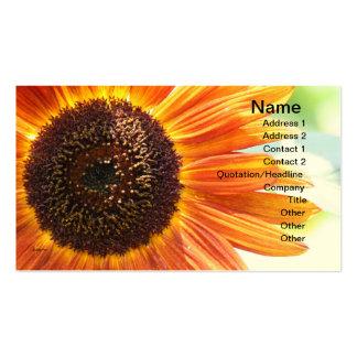Girasol amarillo floreciente plantilla de tarjeta de visita