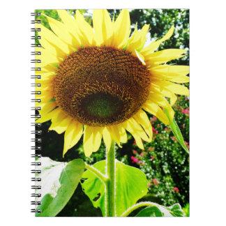 Girasol amarillo grande cuaderno