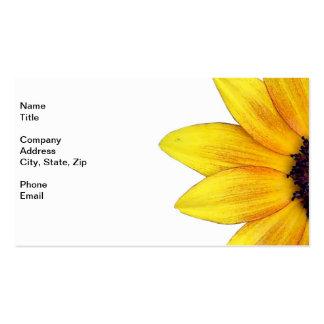 Girasol amarillo-naranja bonito de 2014 tarjetas de visita