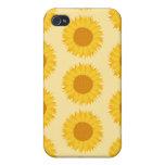 Girasol amarillo Pern. iPhone 4 Protector