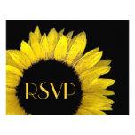 Girasol amarillo RSVP que casa la tarjeta de la re Anuncios