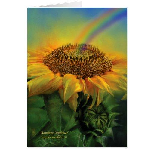 Girasol ArtCard del arco iris Tarjeta De Felicitación