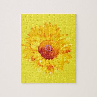 Girasol artsy en amarillo rompecabezas